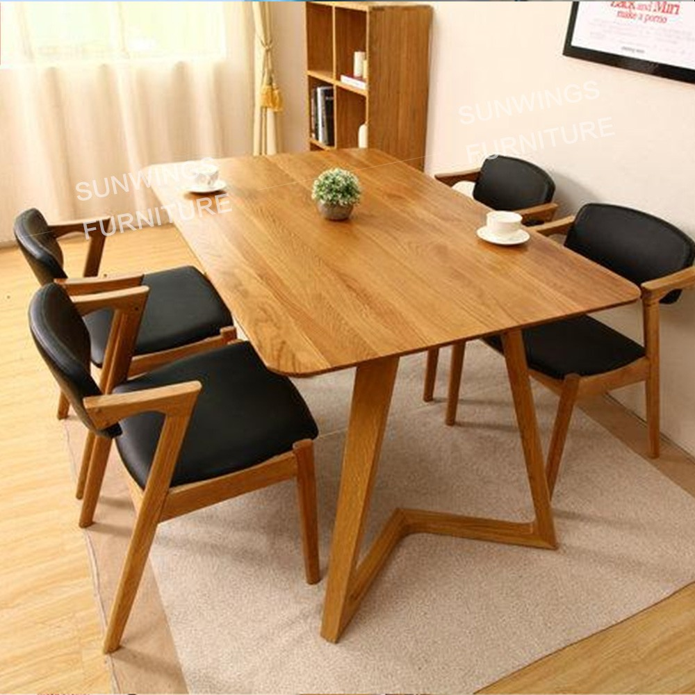 Dise o de estilo n rdico dise o de cuero silla de comedor for Disenos de sillas de madera para comedor