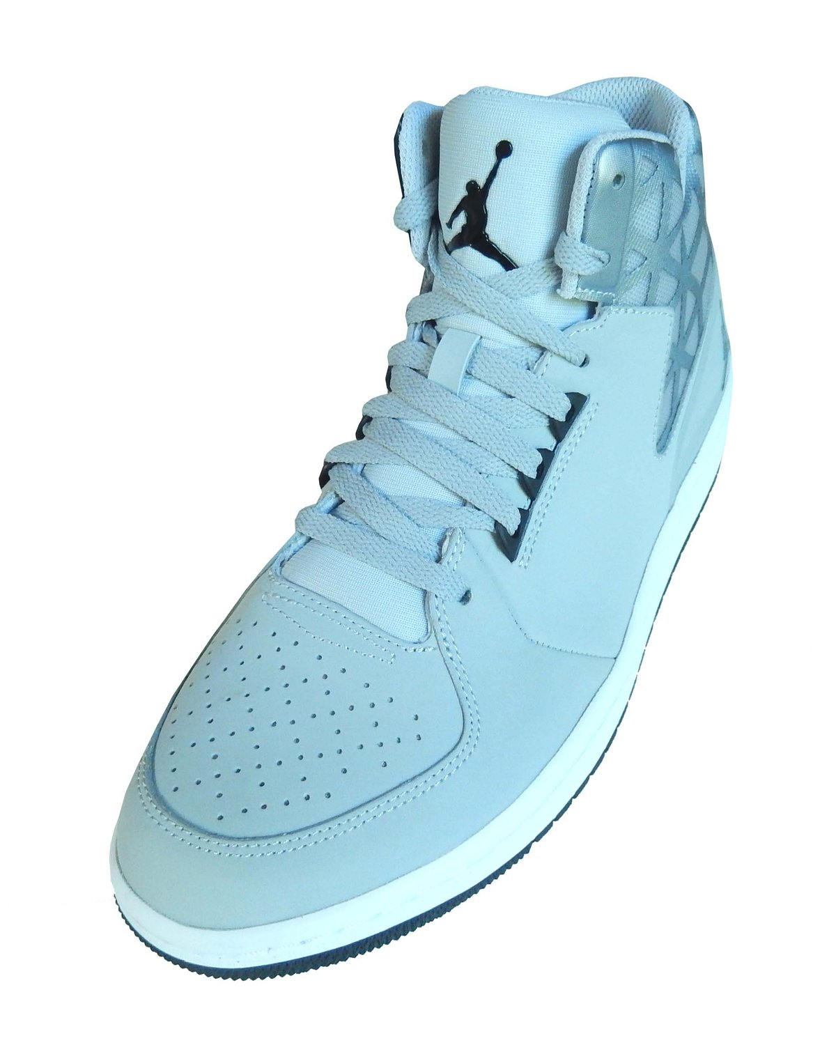 new concept ec1ac 8a82a Get Quotations · Nike Men s Jordan 1 Flight 3 Basketball Sneakers Grey Black  White