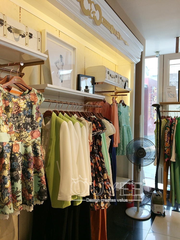 Commercial Wooden Counter Woman Clothing Display Showcase Retail Store Furniture Clothes Shop Interior View Woman Clothing Display Showcase Ouyee Product Details From Guangzhou Ouyee Display Co Ltd On Alibaba Com