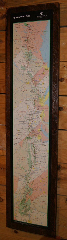 Appalachian Trail Map Print on Reclaimed Wood