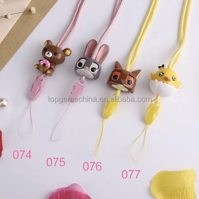 Cartoon Character Universal 2in1 Detachable strap mobile phone neck