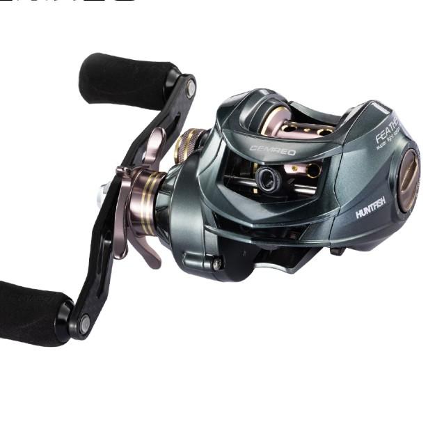 CEMREO Magnetic brake 11+1BB Super Light Weight Baitcasting Fishing Reel, Grey/gold