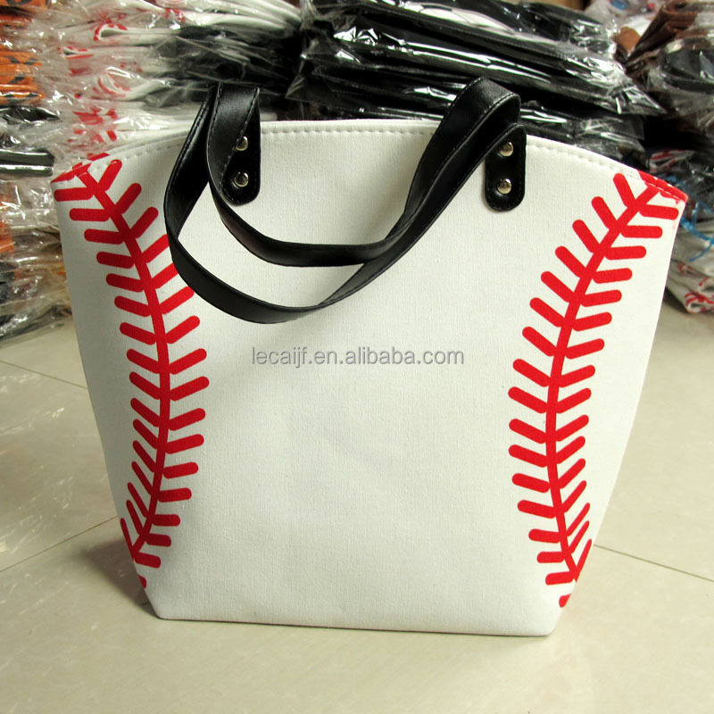 "22""(56cm)*17""(48cm) Wholesale personalized canvas softball <strong>bag</strong> baseball tote <strong>bag</strong> in stock"