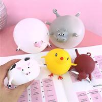 Fidget Cute Cow Sheep Chick Bull Bunny Animal Blowing Squishy Toy