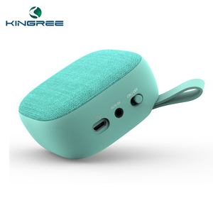 2017 Hot sale newstyle fabric bluetooth mini speaker touch volume control.