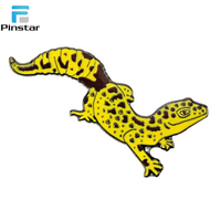 Custom high quality lizard animal soft enamel lapel pin manufactures
