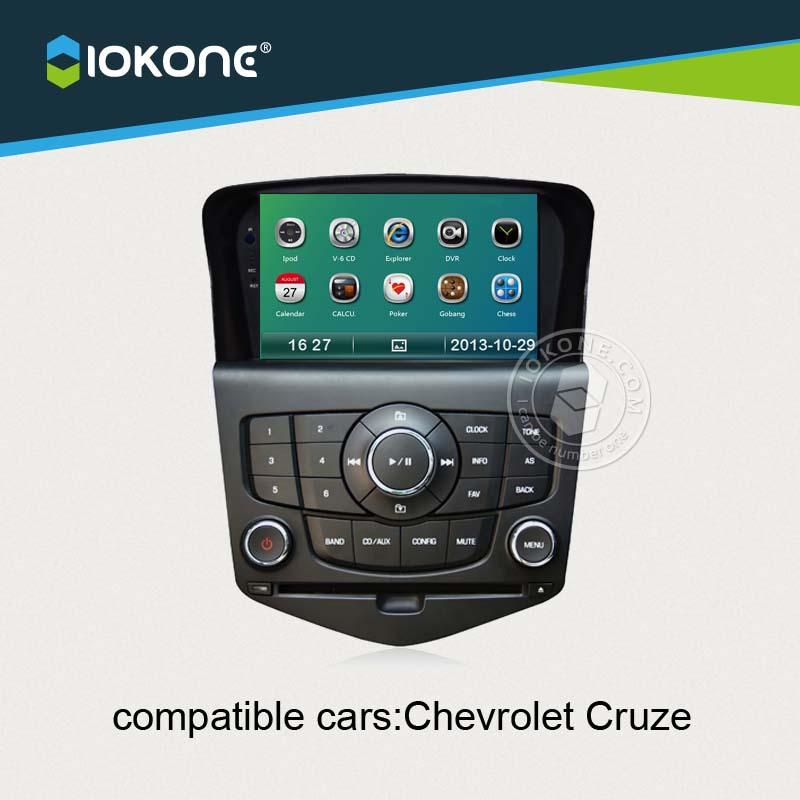 lecteur dvd iokone voiture pour chevrolet cruze 2009 2010 2011 2012 2013 avec radio bluetooth. Black Bedroom Furniture Sets. Home Design Ideas