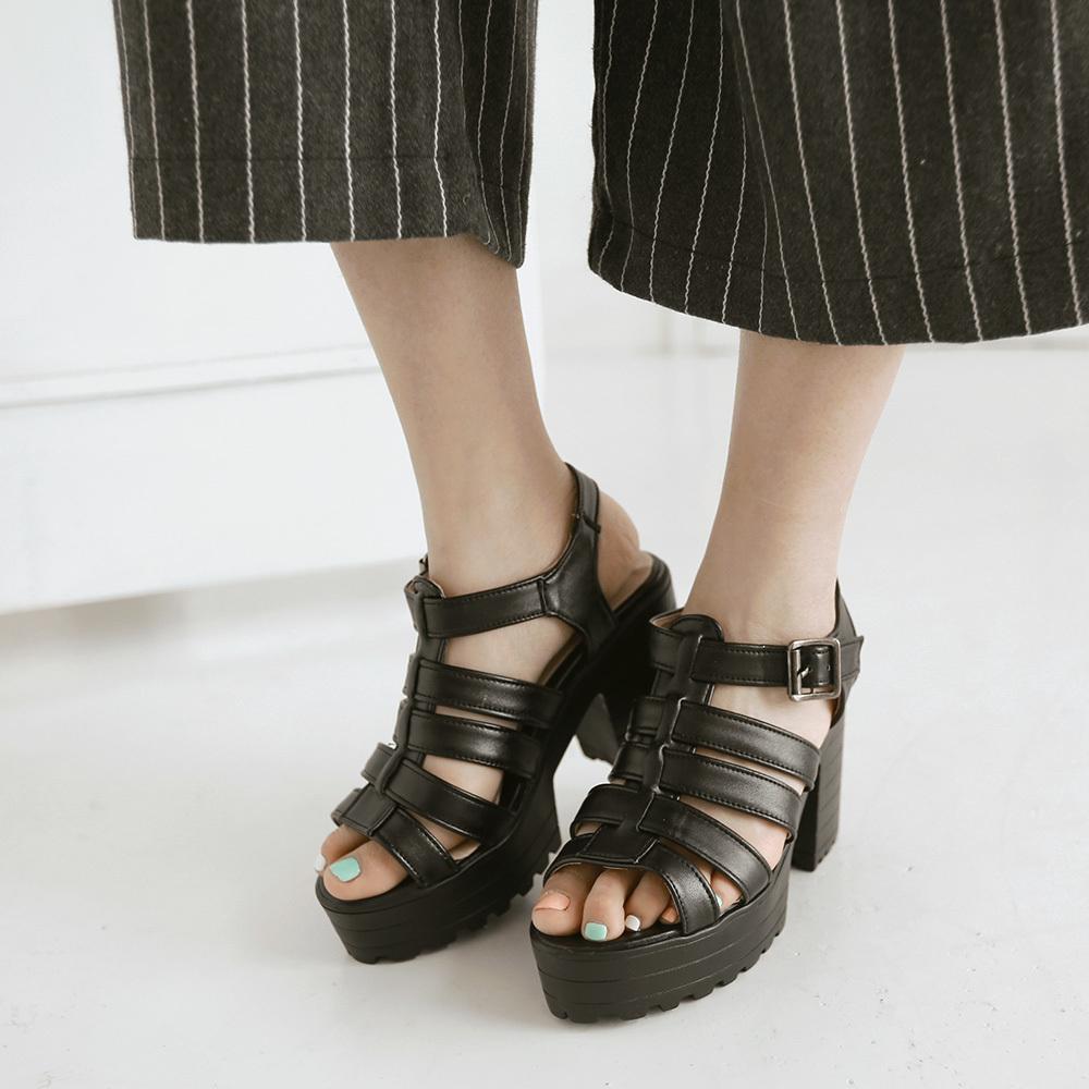 4b3cd7bdb49f Gladiator Platform Heel Sandals - Heels Zone