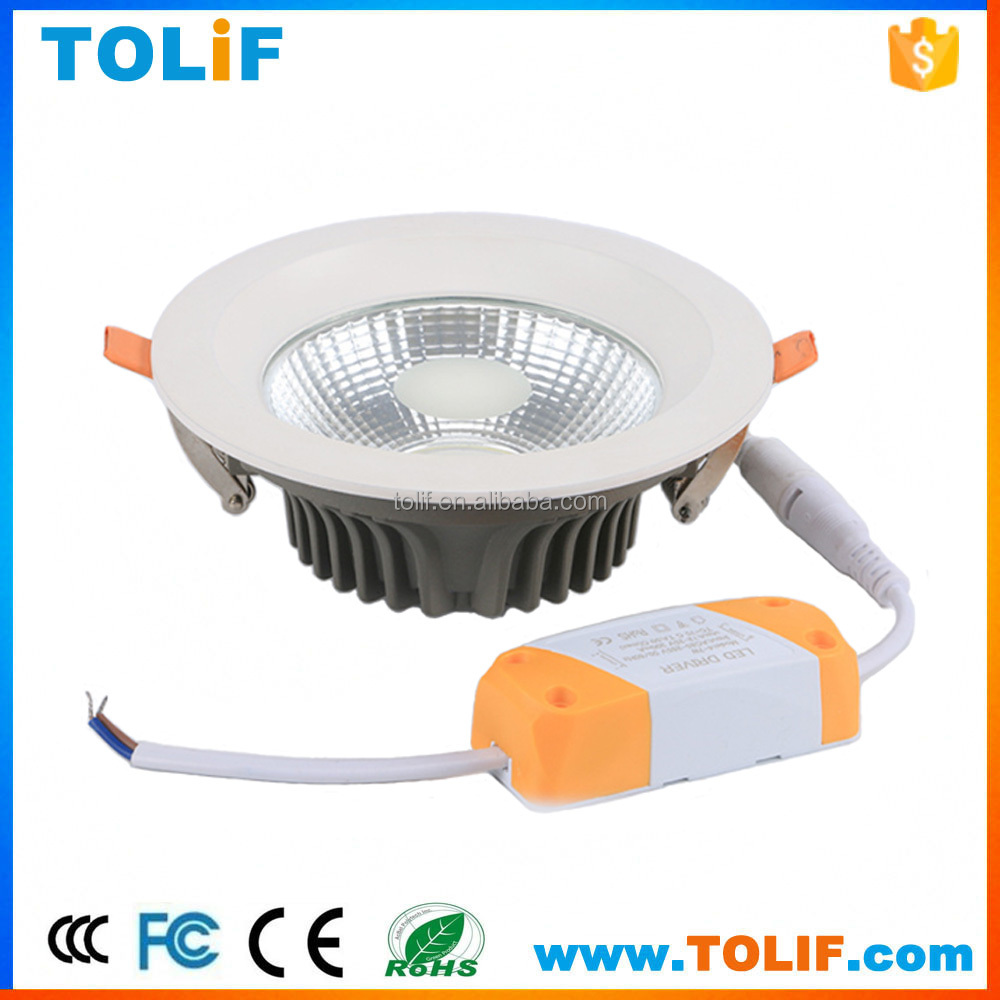 Die-casting COB Ceiling spot lamp 7W Recessed led downlight Indoor lighting