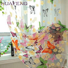 Huafeng 2017 cheap polyester ready made sheer voile curtain