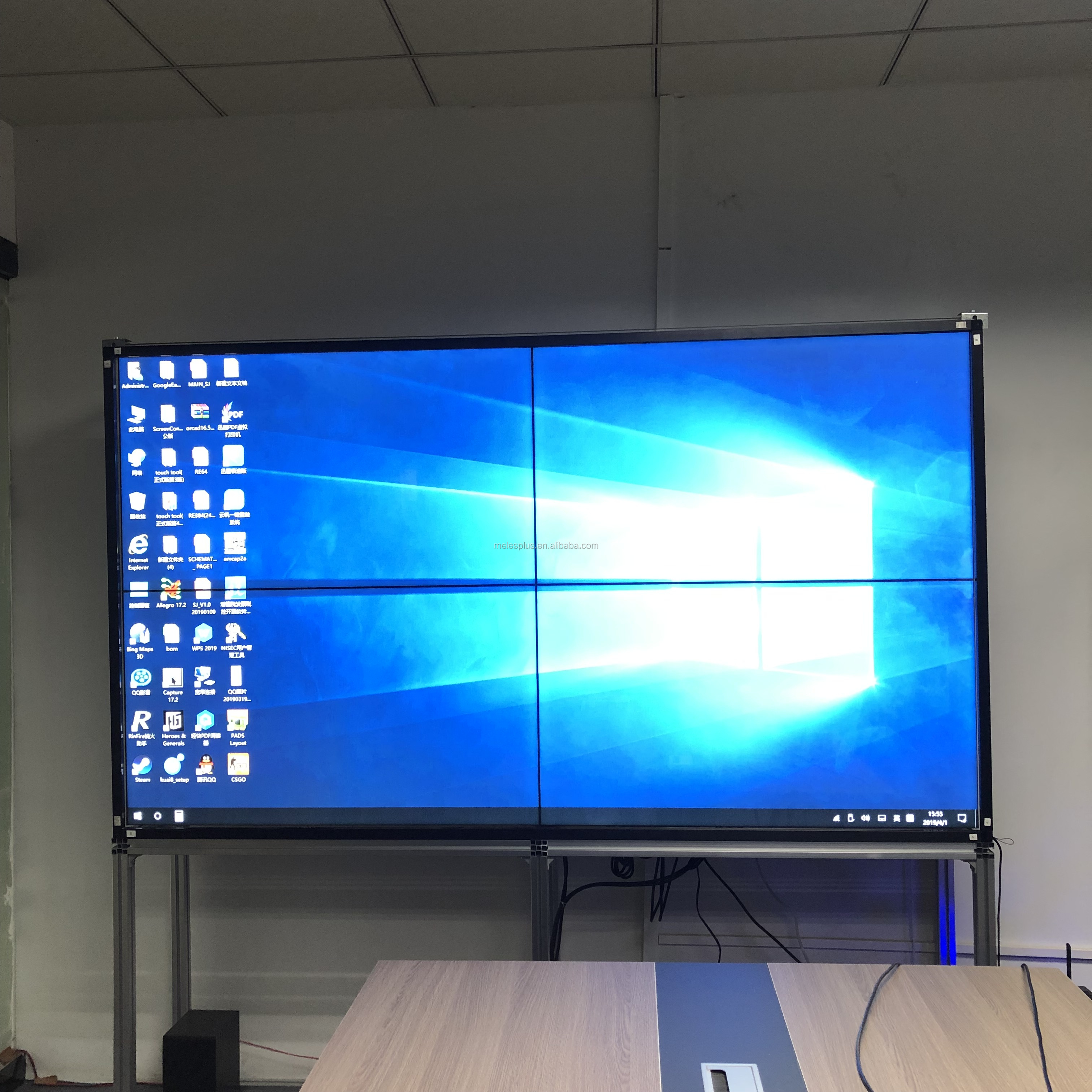 Vinger Touch screen frame voor 42 55 65 84 school office TV monitor