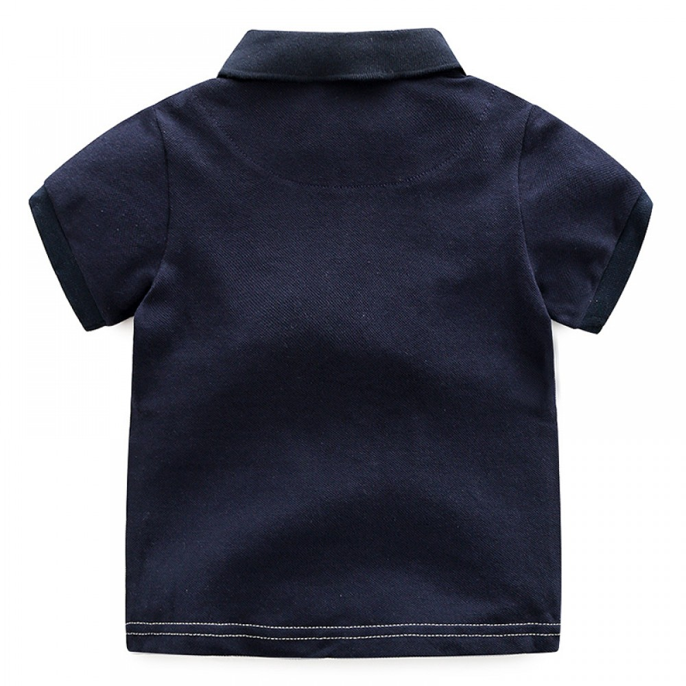 Fancy Polo T-shirts Baby Boy Embroider puppy t Shirts Wholesale Kids Summer Polo Shirt Toddle Short Sleeves t Shirt Baby Boy