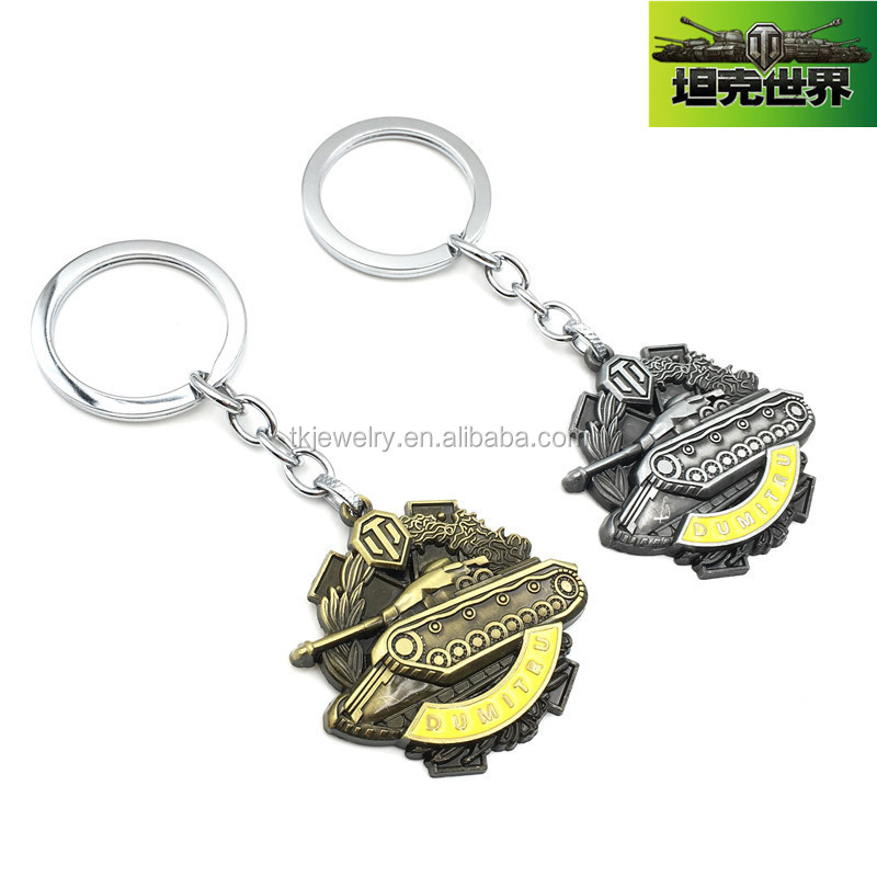 Manufacturer Wholesale World of Tanks Games Pendant Theme Keychain Accessories