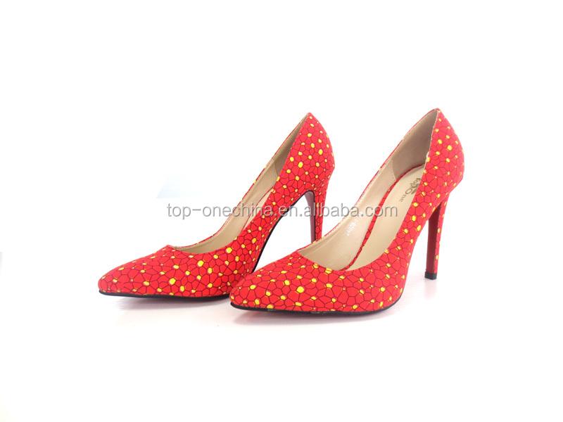 print Wax high shoes shoes pint shoes Fashion african wax quality vpdnqnx57