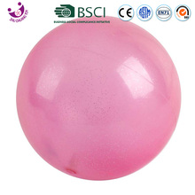 small pvc inflatable pink bouncy glitter paint balls for kids play