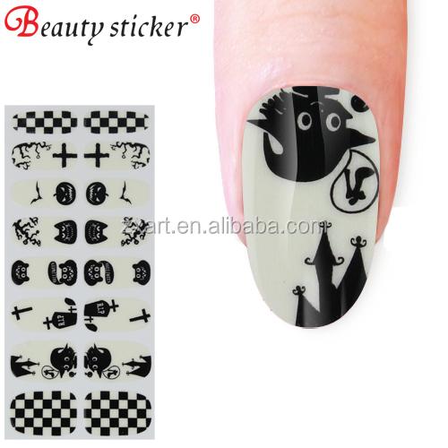 fashion nail art sticker cute skull halloween party diy nail decoration