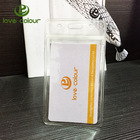 Factory Custom Vertical ID Badge Holders Waterproof Clear Card Holder Resealable PVC Pouch