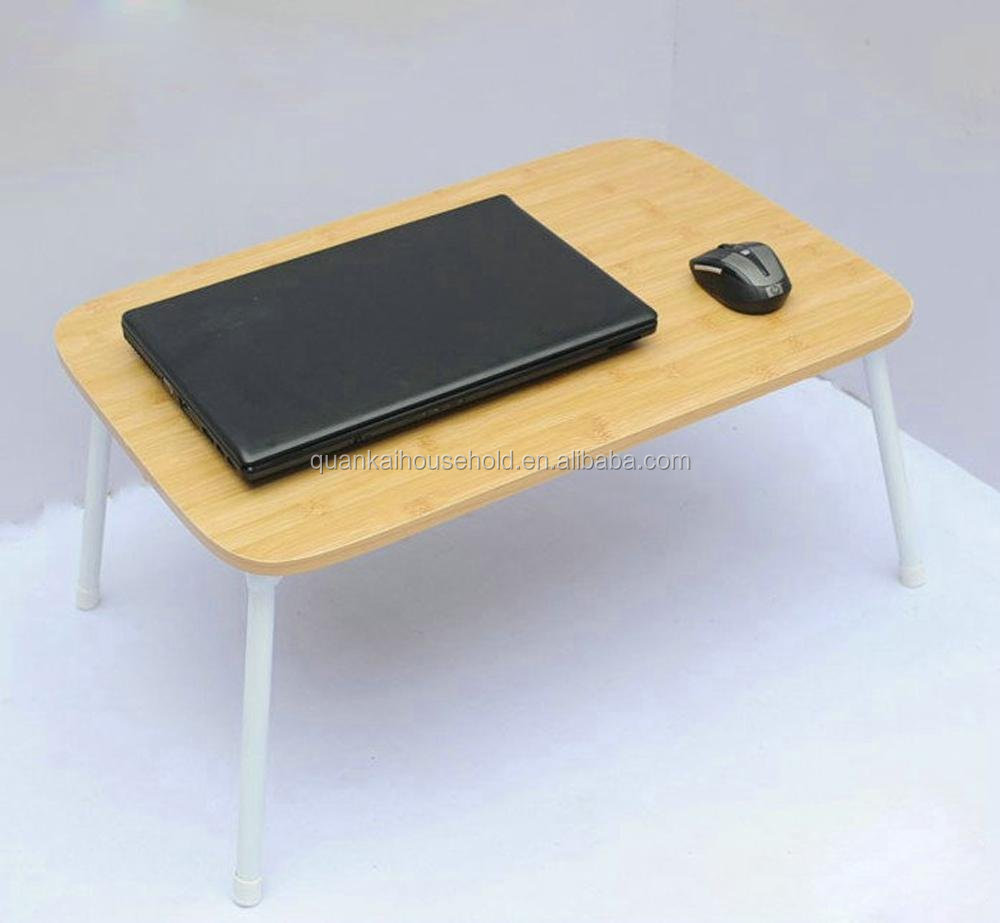 Mesa de ordenador port til cama port til bandeja de bamb - Mesa portatil ordenador ...