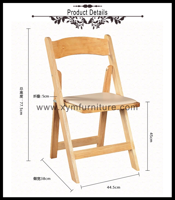 heavy duty white black wedding folding chairs for party