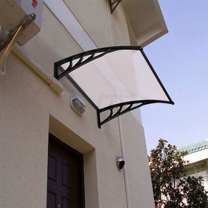 Durable DIY Polycarbonate(PC) Rain Shelter Front /Back Door Canopy