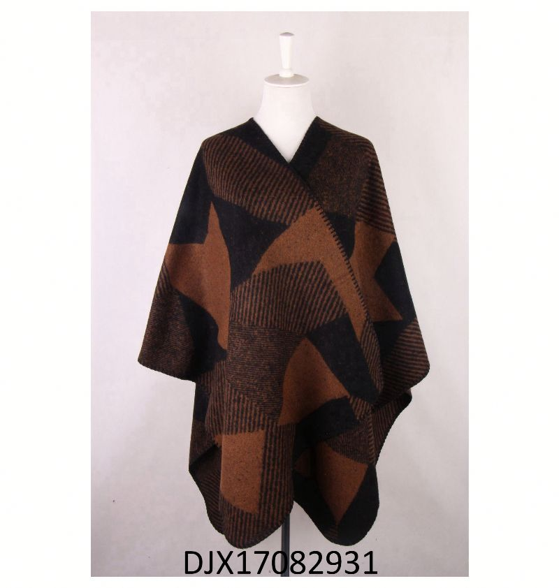 good quality soft cashmere feeling origin of poncho For lady