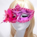 Carnival party decoration mask with feather and masquerade masks for women