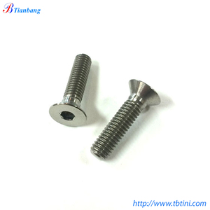 Factory Supply DIN 7991 Grade 5 6AL4V M5 M6 M8 Titanium Hex Socket Countersunk Head Bolts