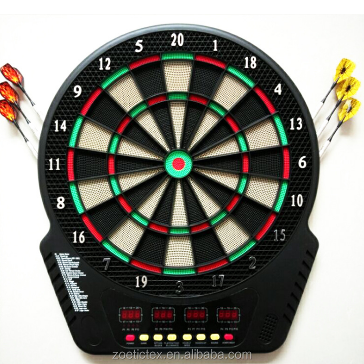 Newest Hot Sale Indoor ABS LED Dartboard Electronic Dartboard With 6 Brass Darts
