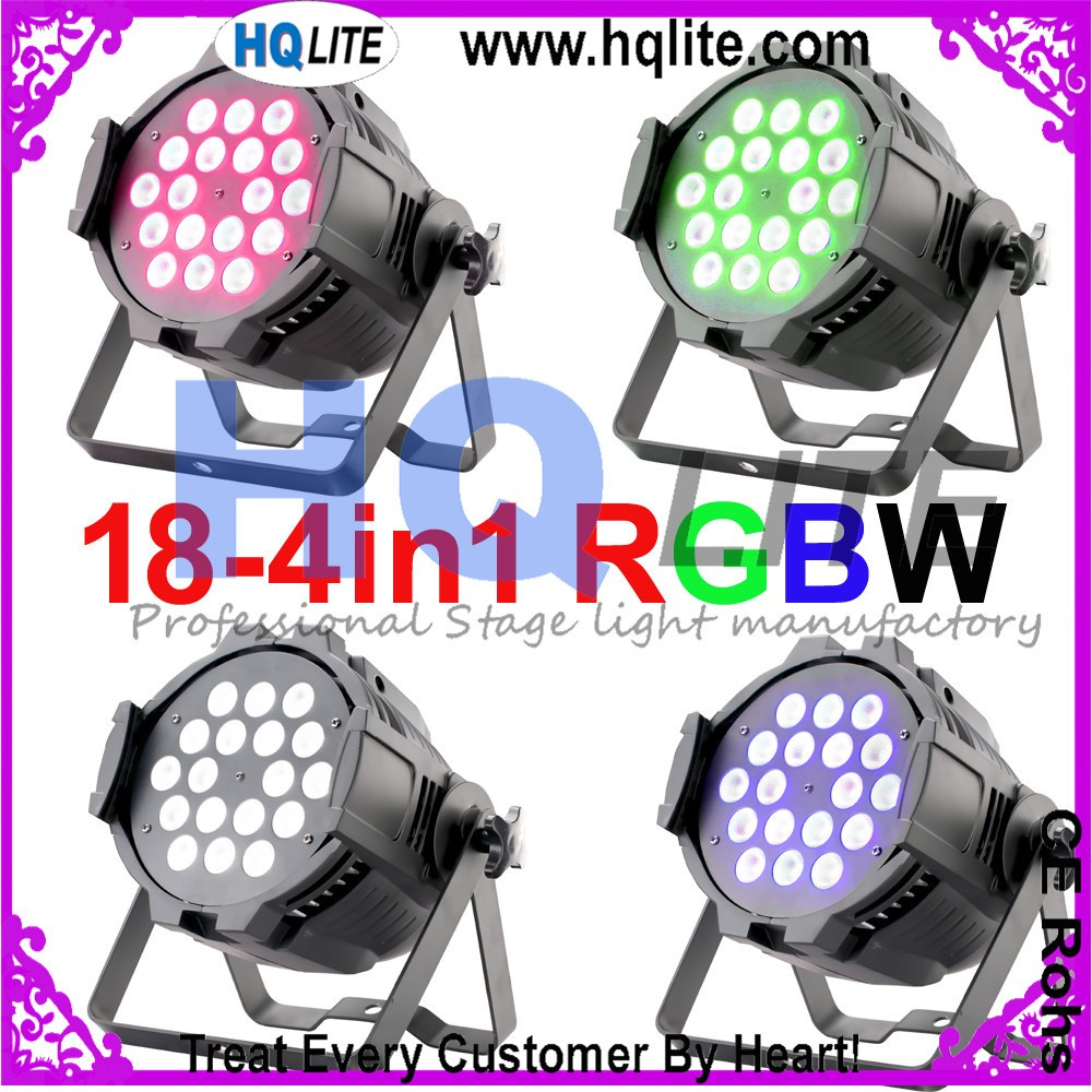 par64 led lighting lamp 18x12w RGBW 4in1 6in1 RGBWA UV stage led par light