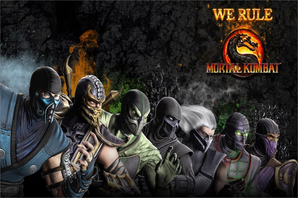 Mortal kombat wallpaper smoke