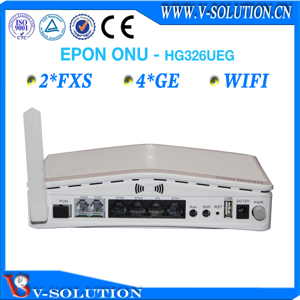 4LAN+2POTS+WiFi+USB EPON ONU Wireless Router VoIP Gateway IPTV Set Top Box Compatible with Huawei//ZTE/Fiberhome OLT