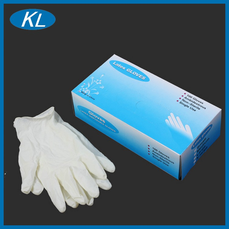 New products disposable medical sterile surgical gloves latex with powder free