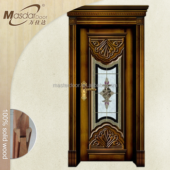 Nice Apartment Main Entrance Wooden Glass Door Price India