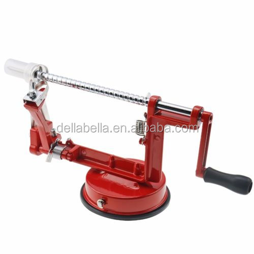 High Quality Professional Manual Spiral Potato Slicer and Apple Peeler