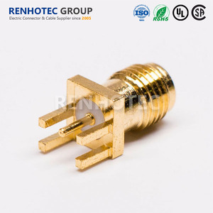Low Loss RP Female SMA Jack RF Coaxial Connector Straight SMA Connector For PCB Mount Micro-Strip Bulkhead