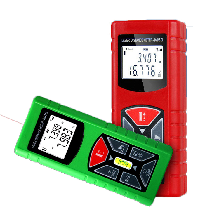 50m high quality volume measuring digital range finder measure tape meter