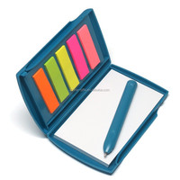 Promotional memo pocket book with plastic case