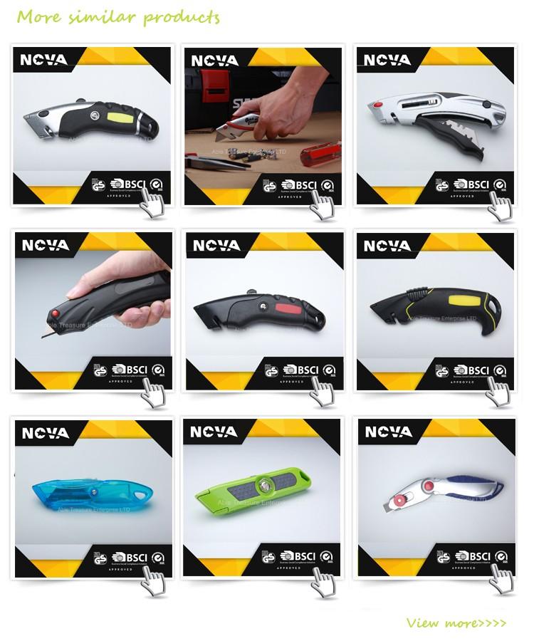 Plastik yüksek kalite paslanmaz çelik 9mm maket bıçağı
