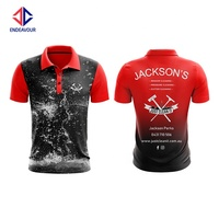 Dye sublimation custom 100% polyester polo shirts for men