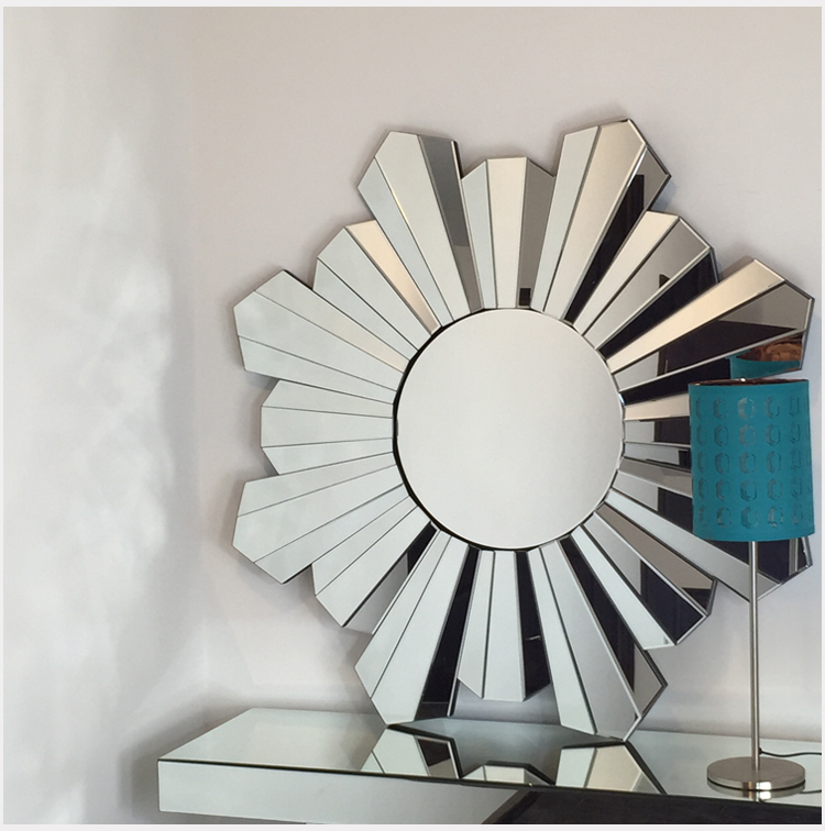 Hot Sell Bevelled Mirror For Living Room With Waterproof Material/Designer Home Decor