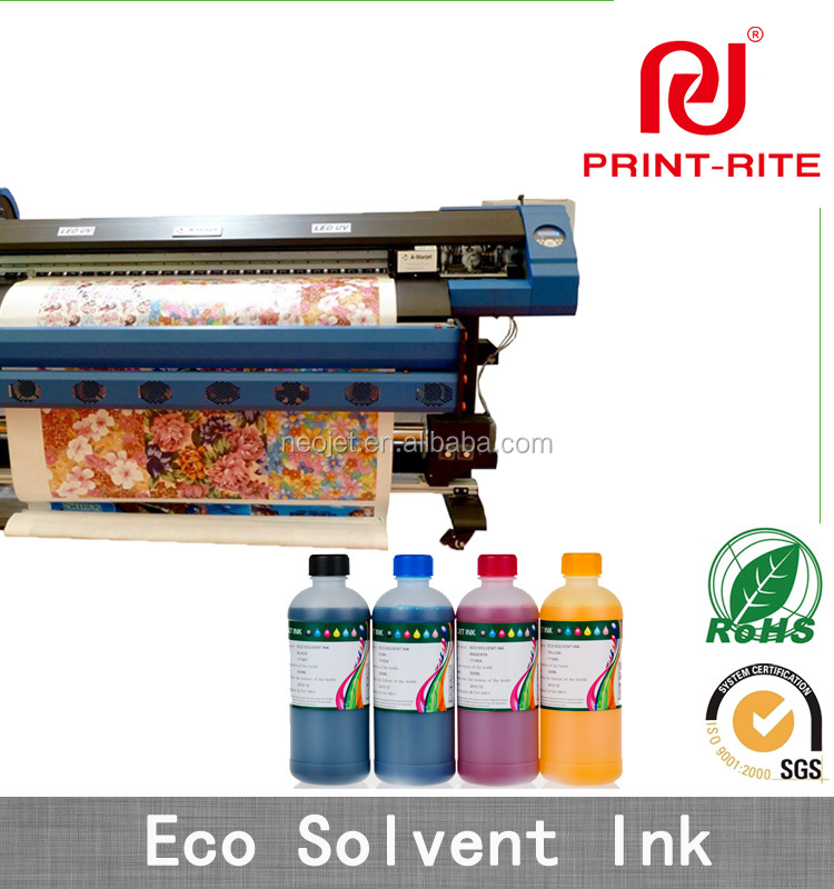 Premium outdoor pigment based eco - solvent ink for piezo printer DX4 DX5 DX7 Mimaki JV3 JV5 Roland mutoh valuejet Printers
