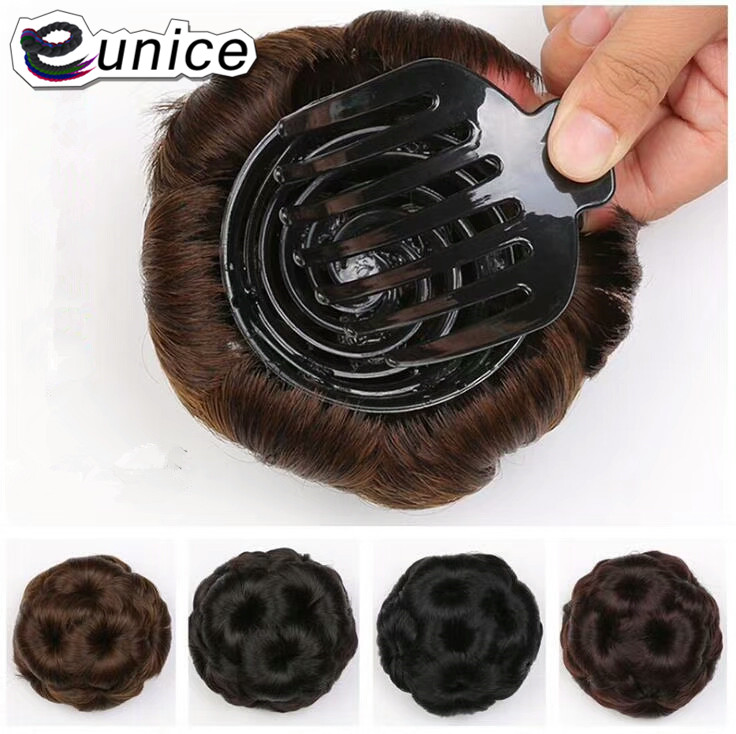 Hair Accessories For Women Wholesale Cheap Synthetic fiber fake hair sexi 9  flowers Hair Buns Chignon Hair Pieces Bun with clip 9741081a2
