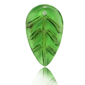Crystal Jade Colors Crystal jewelry bead Single Hole Making Accessories Colors Leaf Shape Jewelry Bead