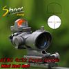 ST 5317 Shoot Thing ACOG Style 4x32 Cross Rifle Scope Optical Sight Scope with Docter Mini Red Dot Light Sensor Hunting Shootin
