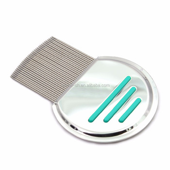 Nit free terminator lice comb, professional stainless steel nit comb