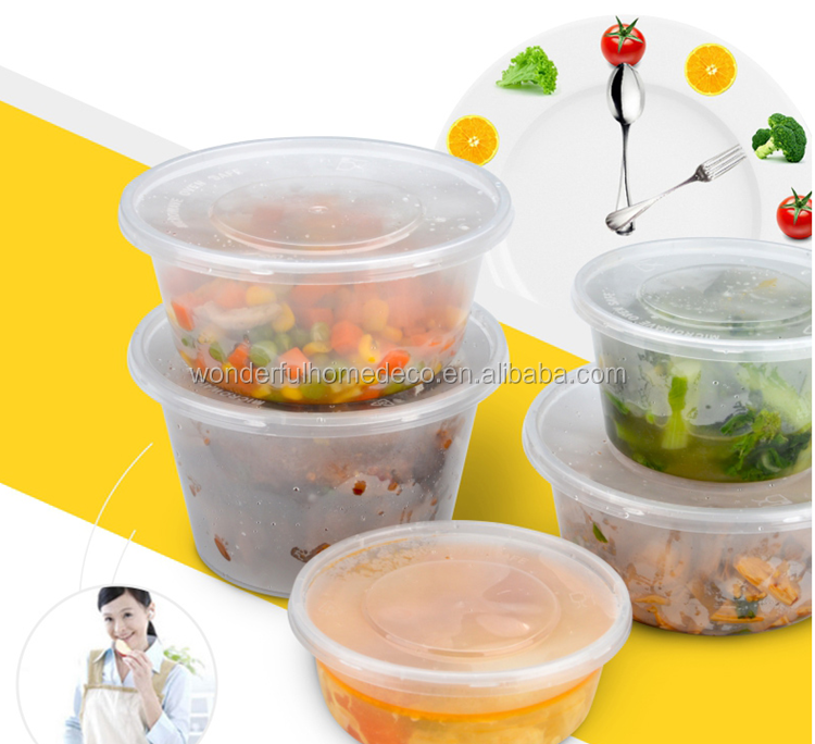 PP Plastic Type and Storage Boxes&Bins / Take away microwave disposable plastic soup bowl