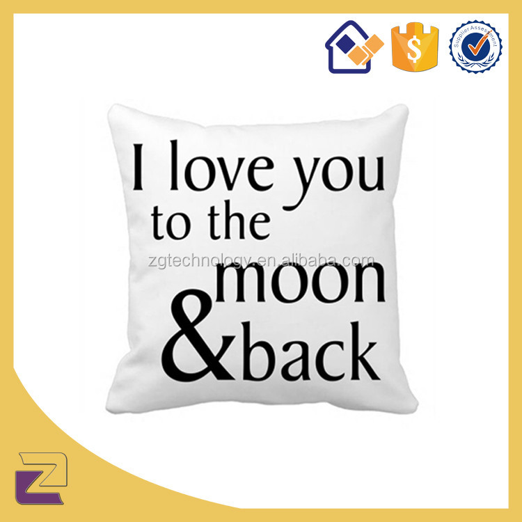 Fashion Gifts Throw Pillow Cases Quote Simple Design Cushion Cover for Sofa Home Decorative Pillow Cover