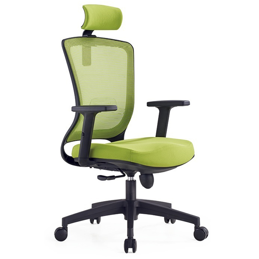 Economic Heated green split back office wheel chair for computer desk