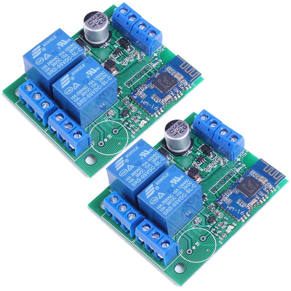 Buy Icstation 2 Channel Relay Module Bluetooth 4 0 APP Remote