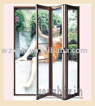 Luxury aluminum folding screen door buy decorative for Indoor screen door